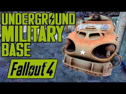 Fallout 4 - EPIC UNDERGROUND MILITARY SETTLEMENT! - Federal Cache 84NE - The Sleeper Awakens