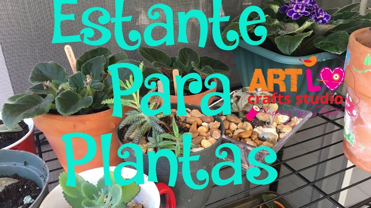Estante para plantas adaptada pelo marido e 84 youtube - Estantes para plantas ...