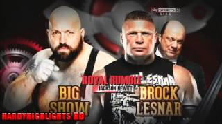 WWE ROYAL RUMBLE 2014 MATCH CARD FULL [HD]