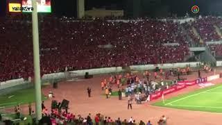 جمهور الوداد يشعل ستاد محمد الخامس بالشماريخ