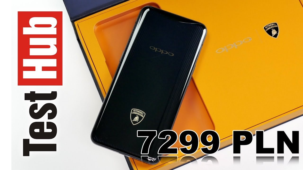 Oppo Find X Lamborghiniza 7299 PLN Test - Review - Recenzja - Prezentacja PL