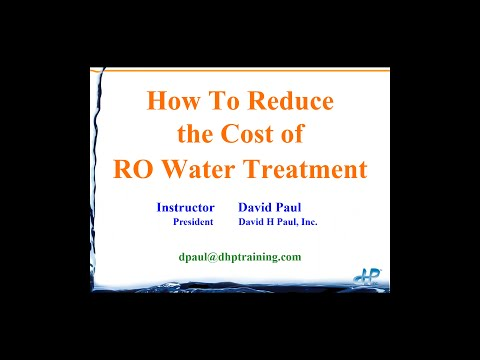How to Reduce the Costs of RO Water Treatment