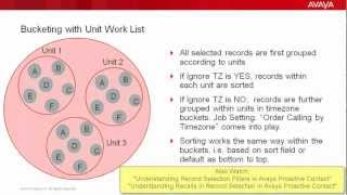 Understanding Sorting and Timezone bucketing in Record Selections in Avaya Proactive Contact