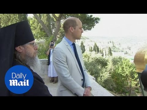 Prince William visits great grandmother's tomb in Jerusalem
