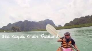 ท่องเที่ยวไทย พายคายัค จ.กระบี่ sea kayak Krabi กับหัวใจสะพายเป้