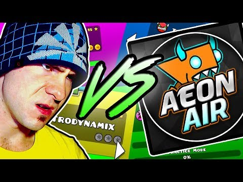 Geometry Dash // AeonAir vs EVW // ALL ROBTOP LEVELS IN A ROW