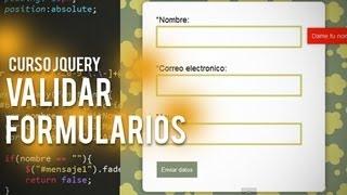 Curso jQuery | Validar formularios con jQuery 1