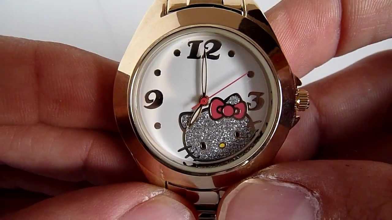 4d07295c139a Reloj Hello Kitty Para Dama Modelo Sanrio Caja Y Hebilla Ace - YouTube