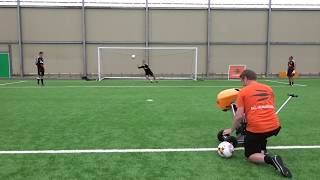 Newcastle United Goalkeeper Drills | Ball Launcher