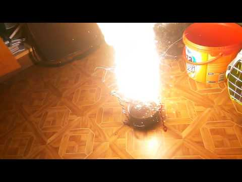 Thermite Reaction Iniciated By Magnesium Dust And Sparkler