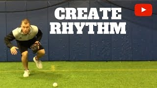 Infield Secret to Create Rhythm (Baseball Fielding Drills)
