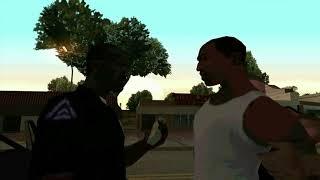 CJ прилетает в Лос Сантос. GTA: San Andreas. 2004. ( рус. озвучка )