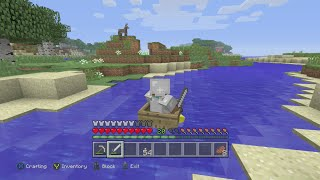 I Build My First Boat! See My First Mob! And Fall Through My First Hidden Trap Door!? Minecraft #34