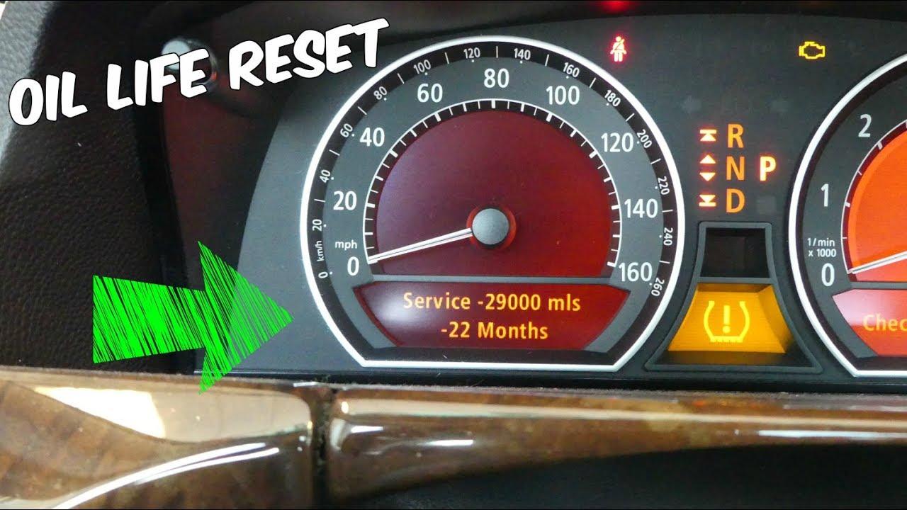 BMW E65 E66 HOW TO RESET OIL LIFE OIL INTERVAL RESET 745i 745Li 750i 750Li  760Li 730i 735i