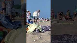 Лайфхак как переодеть купальник на пляже где нет раздевалки. Прикол. Пляжи Одессы. Лето