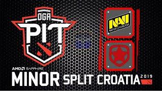 Navi vs Gambit / Bo3 / OGA Dota PIT Minor 2019 China Qualifier / Dota 2 Live