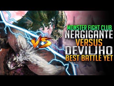 Nergigante VS Deviljho! Most Insane Battle Yet! Monster Hunter World PC fight Club