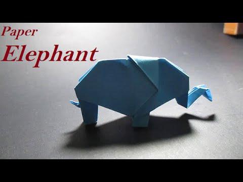 Origami Elephant How To Make An Origami Elephant Easy Youtube