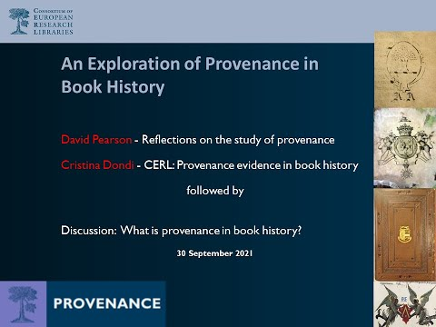 Exploring Provenance in Book History