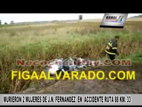 MURIERON 2 MUJERES DE J N  FERNANDEZ  EN  ACCIDENTE RUTA 88 KM  33