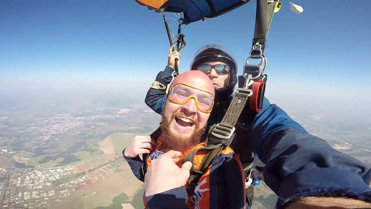 Salto de Paraqueda do Matheus S na Queda Livre Paraquedismo 30 07 2016