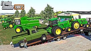 80's FARMING! BUYING JOHN DEERE TRACTORS FROM DEALER (ROLEPLAY) | FARMING SIMULATOR 1980'S