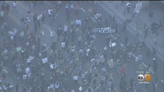 Portland Solidarity Protests Turn Violent In Downtown Los Angeles