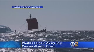 World's Largest Viking Ship Built In Modern Times Crosses Atlantic, Arrives In NYC