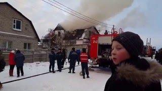 Стиклево пожар 28 декабря 2015 16ч16мин