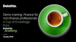 Demo training.  Finance for non finance  professionals.