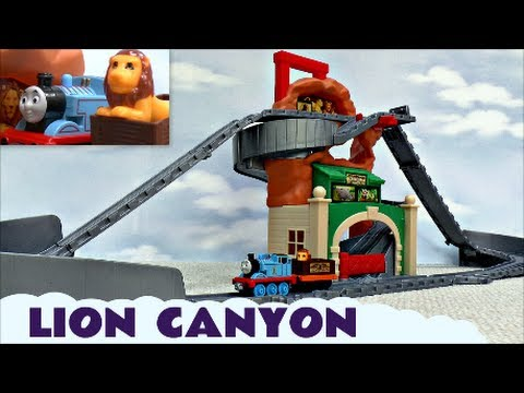 Thomas The Tank Engine and Friends Lion Canyon Take N Play Kids Toy + Bloopers Zoo Train Set