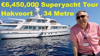 €6,450,000 Superyacht Tour : Classic Hakvoort 34 Metre