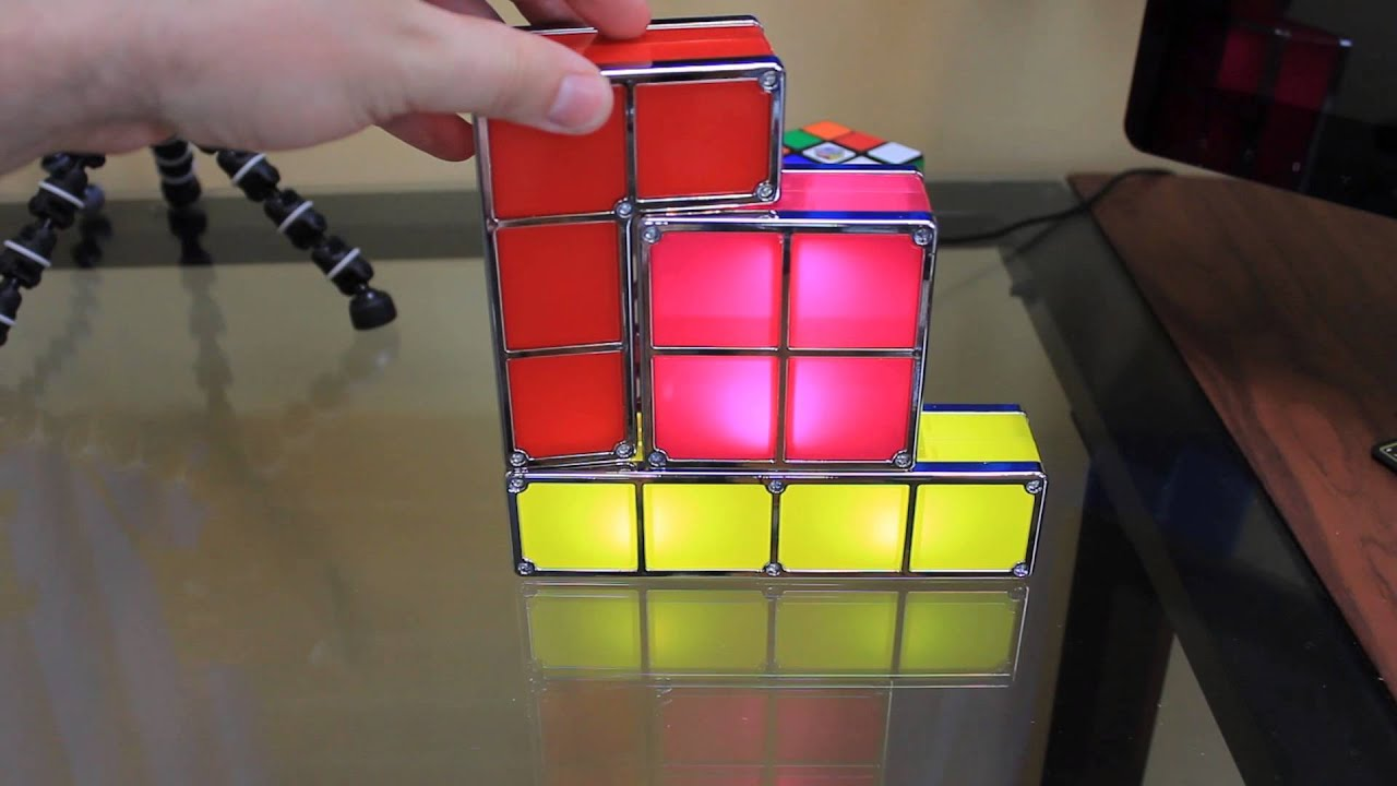 Tetris constructible desk lamp light review youtube geotapseo Gallery