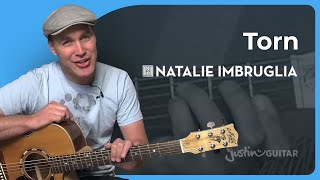 How to play Torn by Natalie Imbruglia (Acoustic Song Guitar Lesson SB-211)