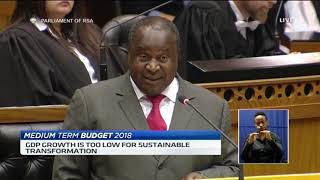 SA Finance Minister Tito Mboweni delivers his first medium term budget speech