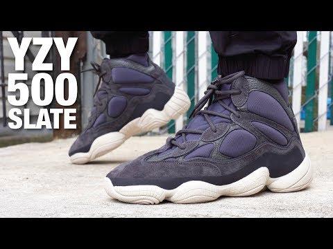 Adidas YEEZY 500 High SLATE Review \u0026 On
