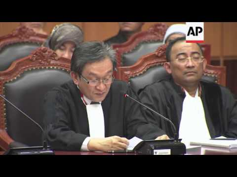 Indonesia's Constitutional Court openss hearing challenging presidential election results