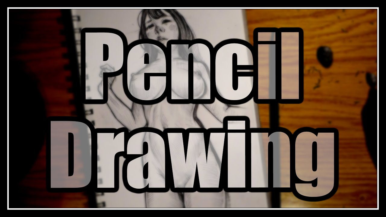 Pencil Drawing Technique. / Female Figure. / Drawing process.