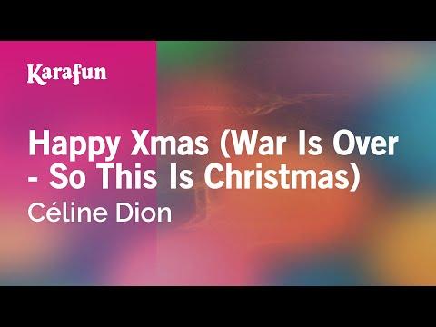 Karaoke Happy Xmas (War Is Over) - Céline Dion *