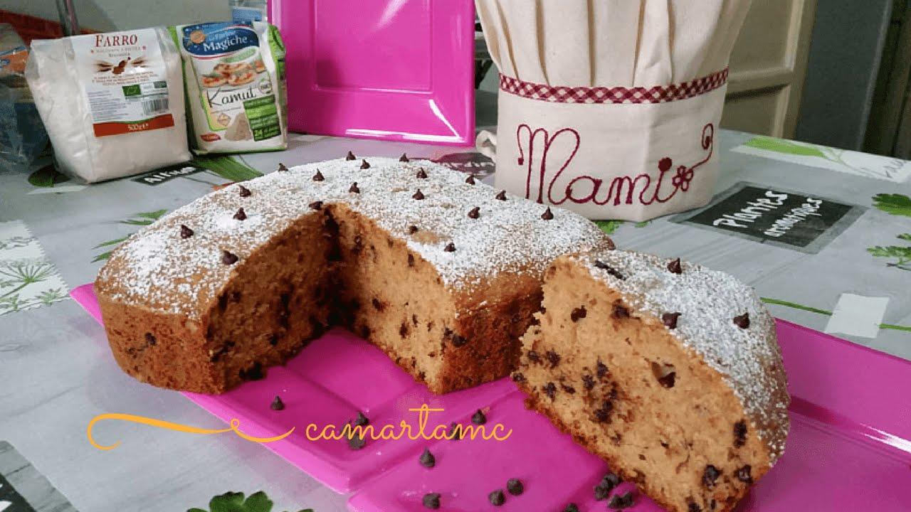 Torta con farina di farro e cioccolato