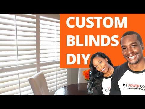 DIY Faux Wood Plantation Shutters Install From BLINDSTER  | DIY Power Couple