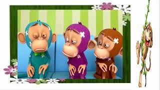 Con khỉ- five little monkeys   Nhạc thiếu nhi Giúp Bé ăn ngoan
