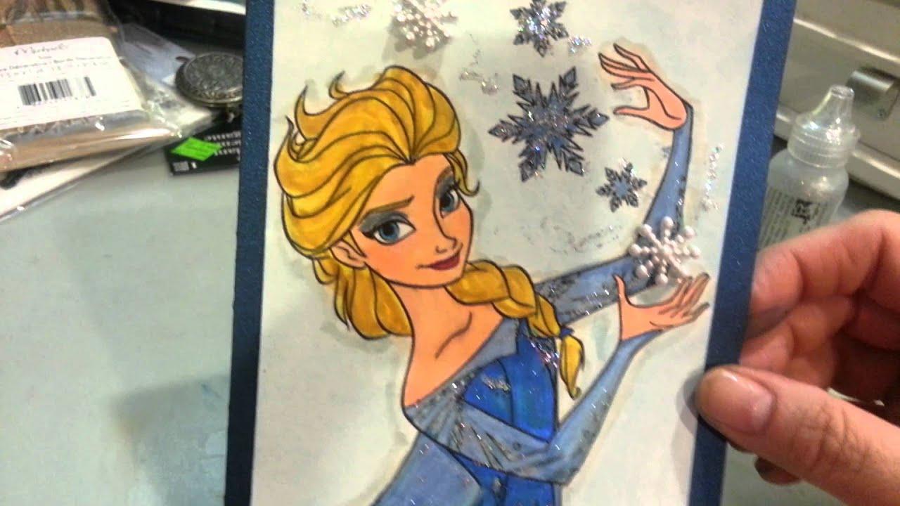 Elsa birthday card
