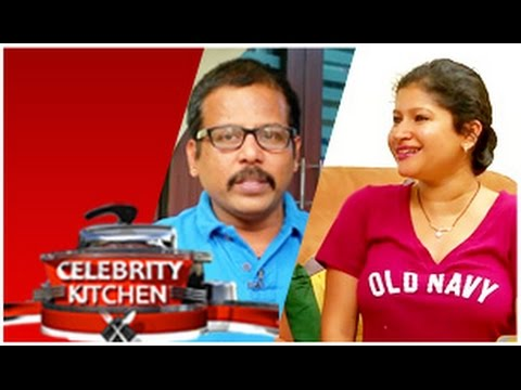 Actor Badava Gopi & Actress Preetha In Celebrity Kitchen (25/01/2015)