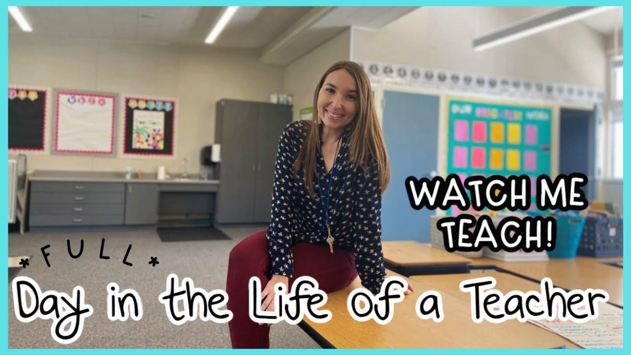FIRST YEAR TEACHER VLOG || FULL DAY IN MY LIFE | Teacher Morning Routine & Watch me Teach