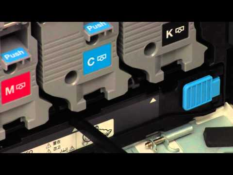 How to clean the drums/i units on the konica minolta number