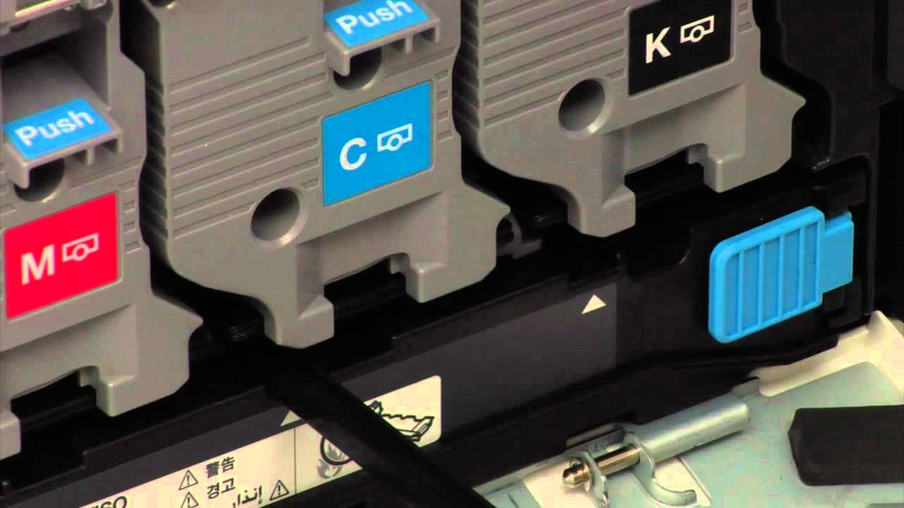 How to clean the drums/i units on the konica minolta number plate printer