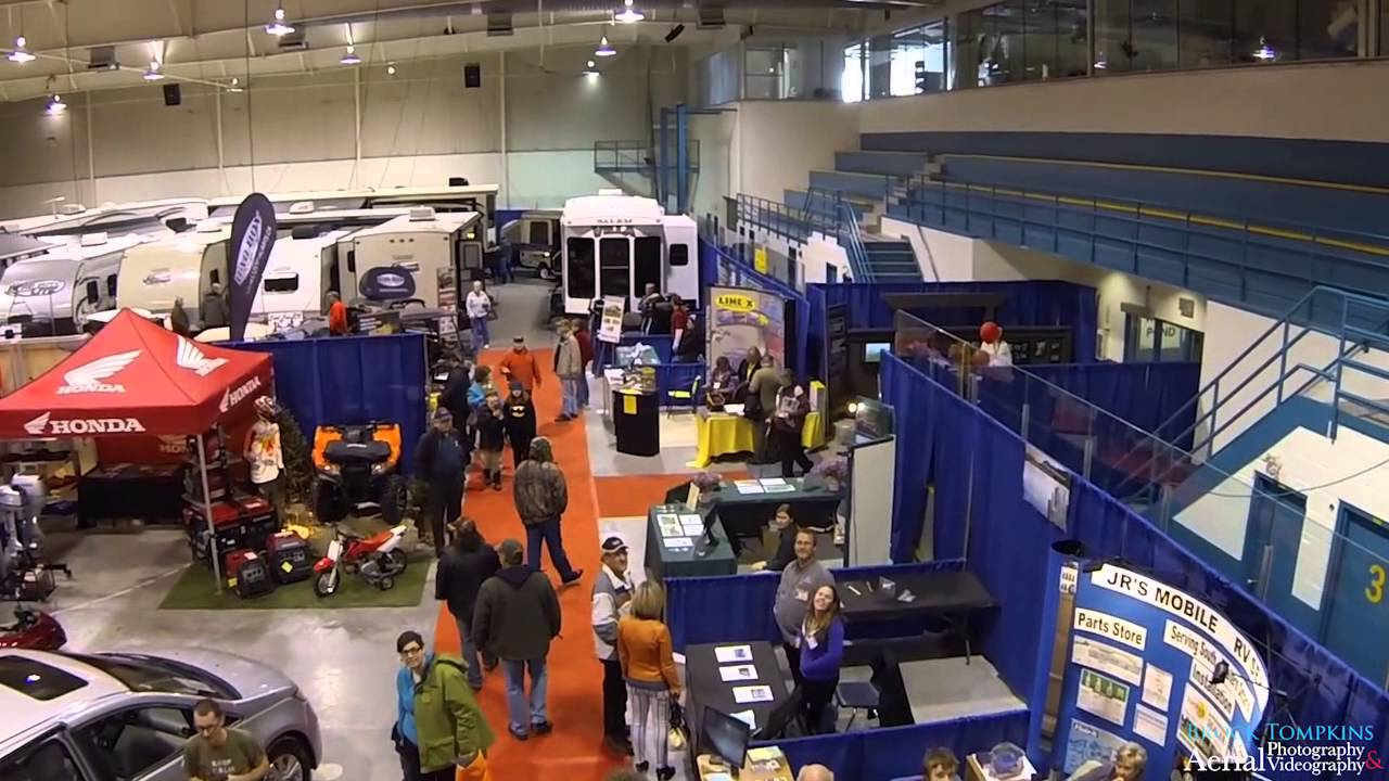 Indoor Aerial Drone Footage Of The 2014 Quinte Sportsman