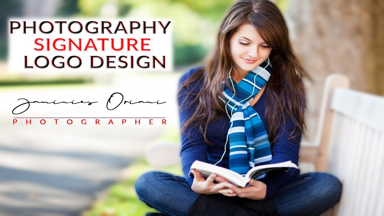 How to Create Your Own Photography Signature logo Design |  Photoshop Signature logo Design
