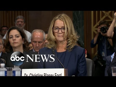 Christine Blasey Ford delivers  statement at Kavanaugh hearing